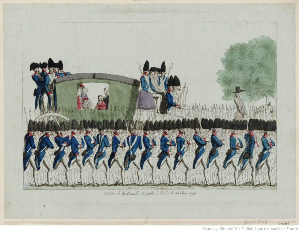 Revolución francesa. Regreso de la familia real a París (25 de junio de 1791), después de Varennes