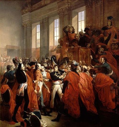 El general Bonaparte es zarandeado en el Consejo de los Quinientos