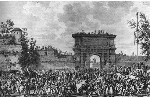 Entrada de Bonaparte en Milán, el 15 de mayo de 1796