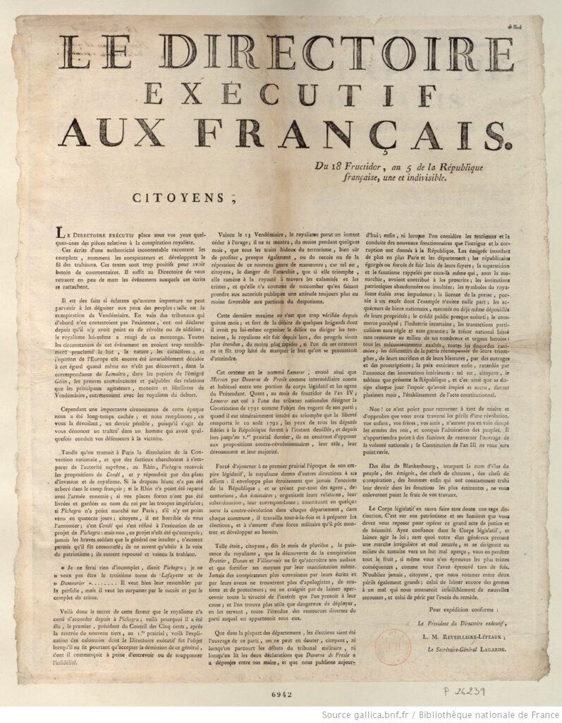 Revolución francesa. Le Directoire