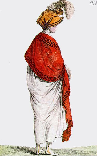 Revolución Francesa - Tipo femenimo de la época de la reacción termidoriana y el Directorio
